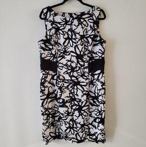 Ronni Nicole sleeveless printed dress